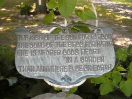 Mama's garden plaque