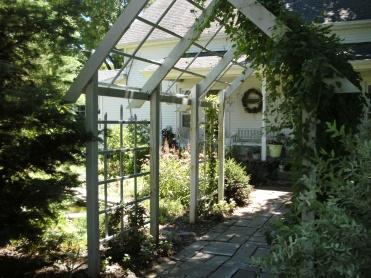 North porch and arbor
