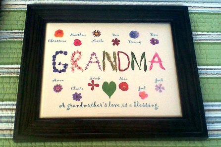 For Grandma (or Grandparents) with the names of ALL her grands! Unframed print $18.00